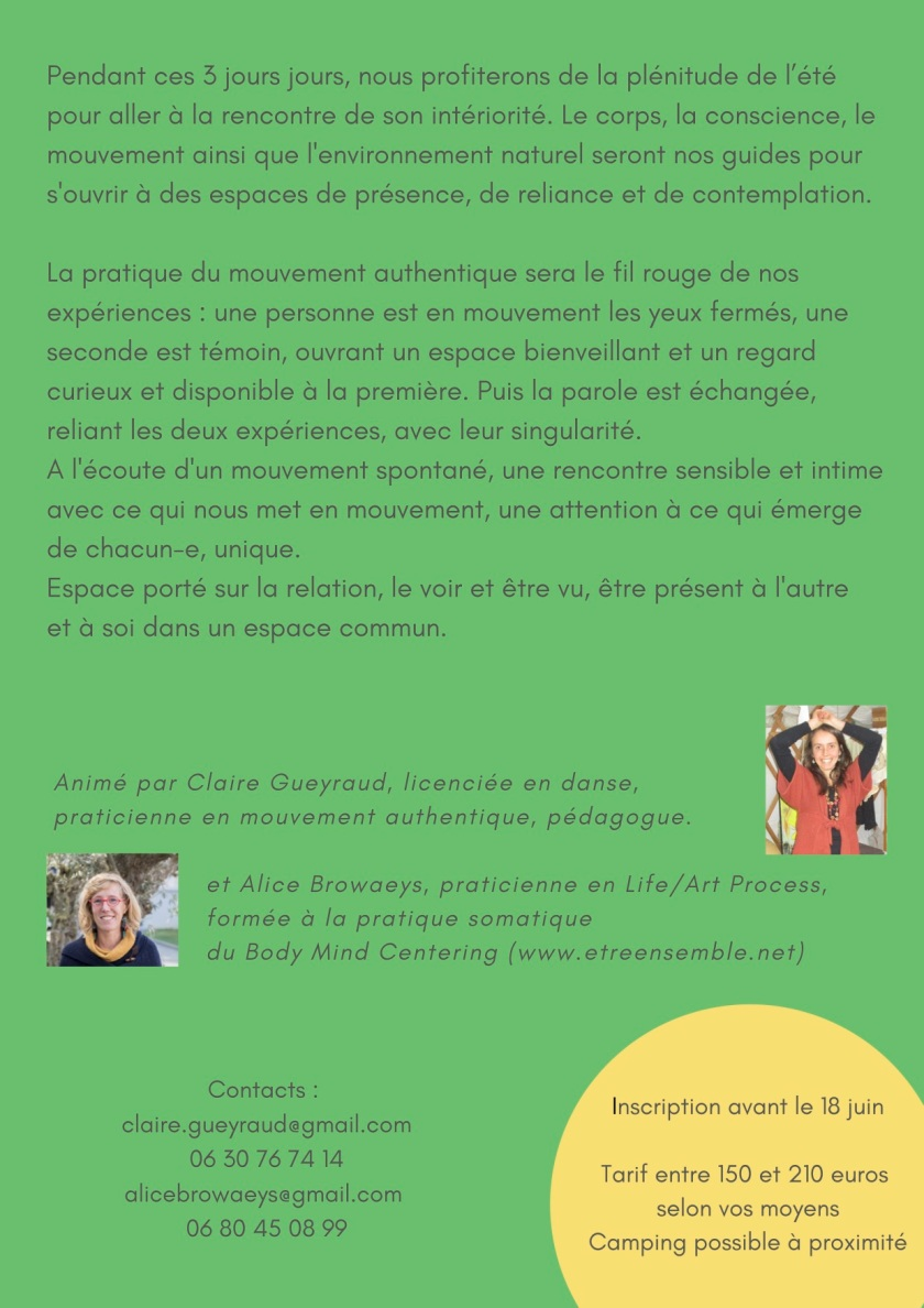 flyer mouvement authentique verso