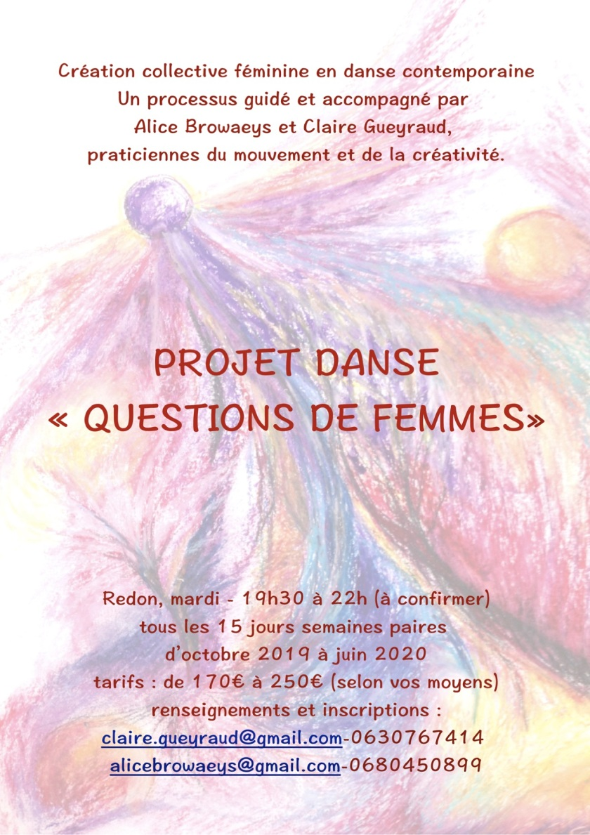 Projet creation danse femmes AFFICHE